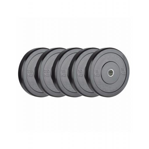 100kg Black Bumper Set