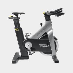 TechnoGym Group Cycle in grey on a white background available from Flair Fitness Bridgend, Co Donegal, Ireland